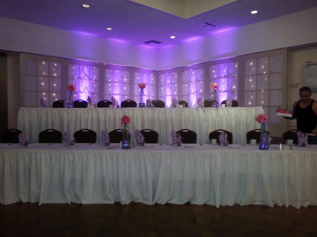 How Many Uplights Do I Need For My Wedding Reception